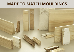 Bespoke, made to match mouldings