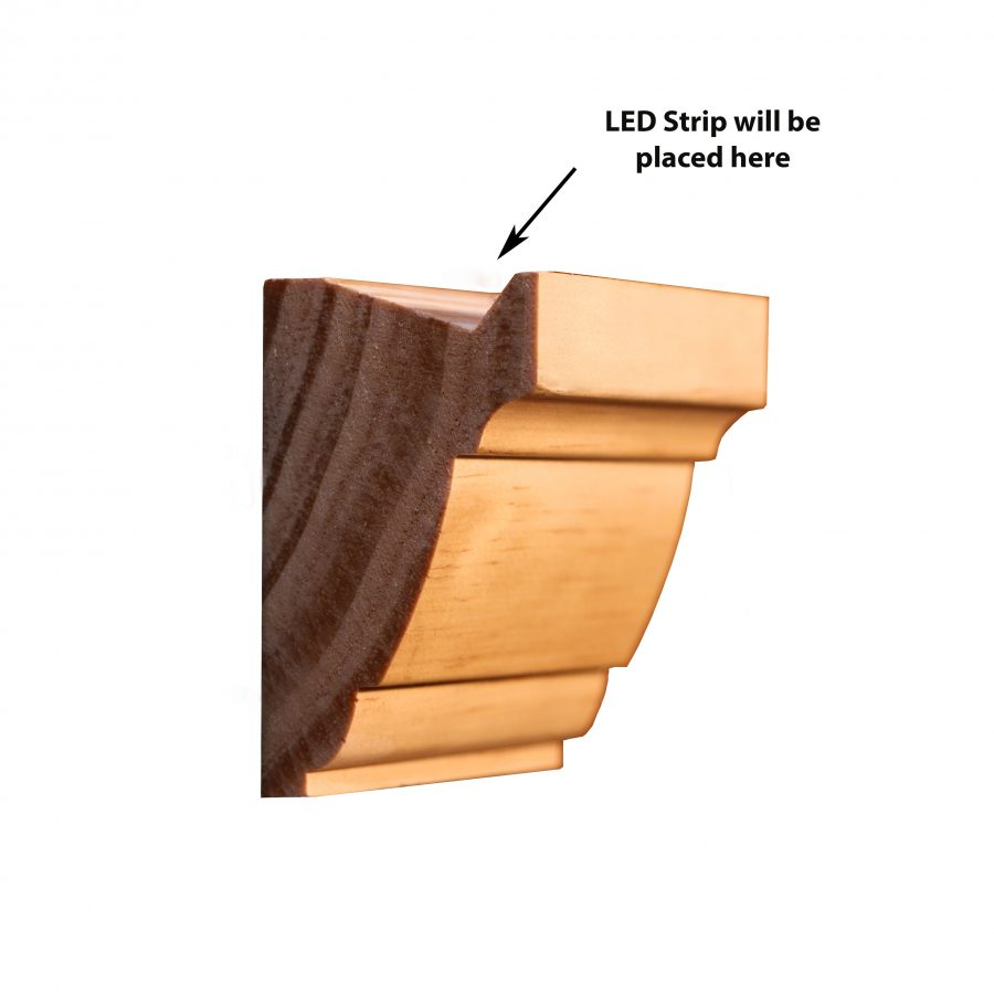 Moulding P506 Led Southern Yellow Pine Picture Rails And Frames Wrp Timber Mouldings